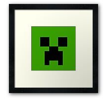 Minecraft creeper face Framed Print