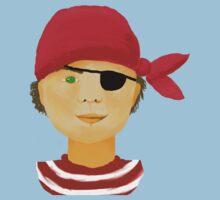 Little Pirate Boy Kids Tee