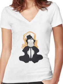 Monkey Bomb Women's Fitted V-Neck T-Shirt