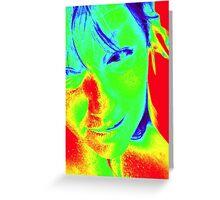 40 Degree Heat in Melbourne - Self Portrait  Greeting Card