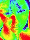Thermal Camera Self Portrait & 40 Degree Heat by Anthea  Slade