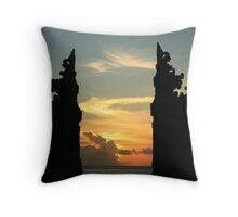The Sunset Gates at Kuta Beach, Bali Throw Pillow