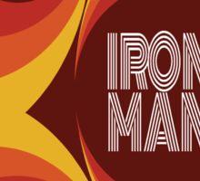 "Retro Superheroes "" Iron Man"" Sticker"