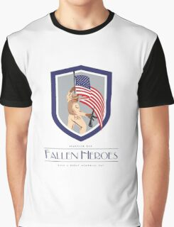 Memorial Day Greeting Card Soldier Military Holding Flag Rifle Graphic T-Shirt