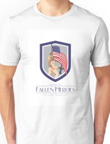Memorial Day Greeting Card Soldier Military Holding Flag Rifle Unisex T-Shirt