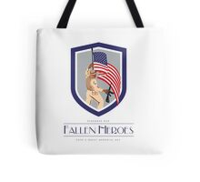 Memorial Day Greeting Card Soldier Military Holding Flag Rifle Tote Bag