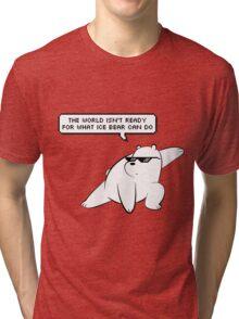 Ice Bear - We Bare Bears Tri-blend T-Shirt