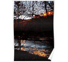 Creekside Embankment Poster