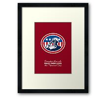 Memorial Day Greeting Card African American Soldier Salute Flag Framed Print