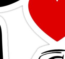 I Heart Cars Land Sticker