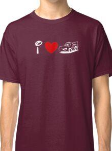 I Heart Cars Land (Classic Logo) (Inverted) Classic T-Shirt