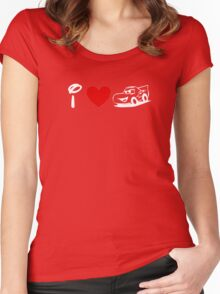 I Heart Cars Land (Classic Logo) (Inverted) Women's Fitted Scoop T-Shirt