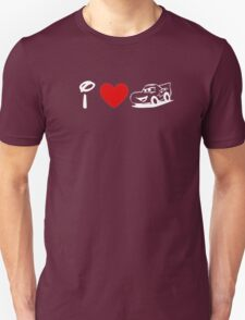 I Heart Cars Land (Classic Logo) (Inverted) Unisex T-Shirt
