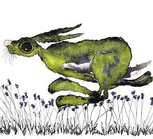 RUNNING HARE  by dbarker