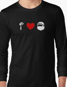 I Heart Haunted Mansion (Classic Logo) (Inverted) Long Sleeve T-Shirt