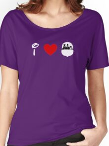 I Heart Haunted Mansion (Classic Logo) (Inverted) Women's Relaxed Fit T-Shirt