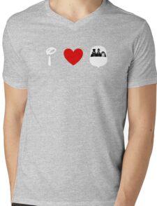 I Heart Haunted Mansion (Classic Logo) (Inverted) Mens V-Neck T-Shirt