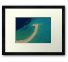 I found the Loch Ness monster in the Maldives !!! Framed Print