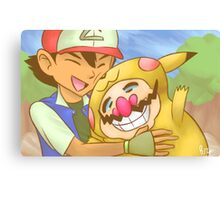 Ash and WarioChu Canvas Print