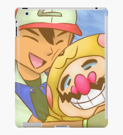 Ash and WarioChu iPad Case/Skin
