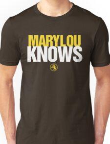 Discreetly Greek - Mary Lou Knows - Nike parody Unisex T-Shirt