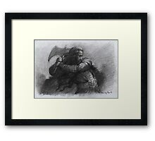 Dwarf Warrior Study Framed Print