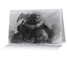 Dwarf Warrior Study Greeting Card