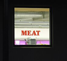 Meat through a window by Heather Samsa