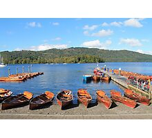 Rowing Boats on Lake Windermere Photographic Print