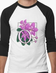 O is for Orchid Men's Baseball ¾ T-Shirt
