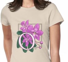 O is for Orchid Womens Fitted T-Shirt