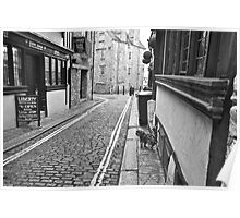 Narrow Street - Winter in Plymouth 4 Poster