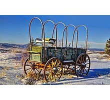 Abandoned Wagon Photographic Print