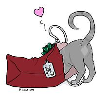 Christmas Cat Butt by PersonalGenius