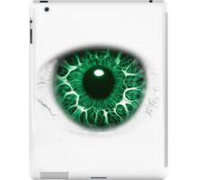 FREAKY GREEN EYE T-SHIRT DESIGN, The Incredible Hulks Eye, Bruce Banner Transforms Into The Incredible Hulk iPad Case/Skin