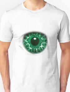 FREAKY GREEN EYE T-SHIRT DESIGN, The Incredible Hulks Eye, Bruce Banner Transforms Into The Incredible Hulk Unisex T-Shirt