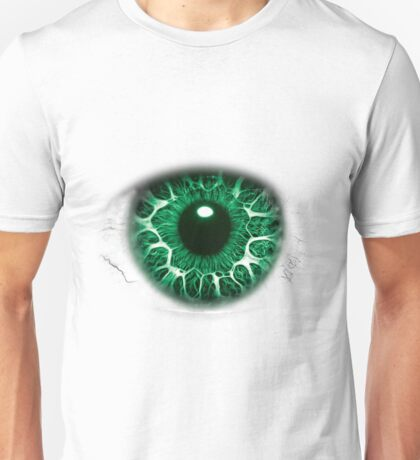 FREAKY GREEN EYE T-SHIRT DESIGN, The Incredible Hulks Eye, Bruce Banner Transforms Into The Incredible Hulk Unisex T-Shirt