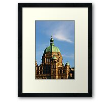 Green Domes and Details on Victoria Parliament Framed Print