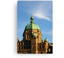 Green Domes and Details on Victoria Parliament Canvas Print