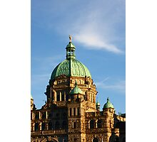 Green Domes and Details on Victoria Parliament Photographic Print