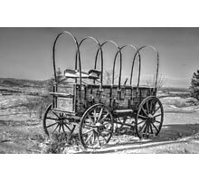 Abandoned Wagon B&W Photographic Print