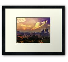 Ringed World Framed Print