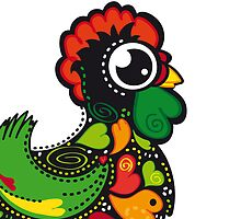 Cute Kawaii Barcelos Rooster by silvianeto