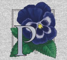 P is for Pansy One Piece - Long Sleeve