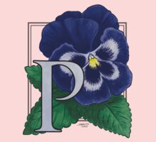 P is for Pansy Baby Tee