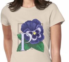P is for Pansy Womens Fitted T-Shirt