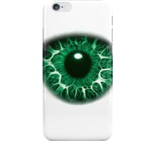 FREAKY GREEN EYE T-SHIRT DESIGN, The Incredible Hulks Eye, Bruce Banner Transforms Into The Incredible Hulk iPhone Case/Skin