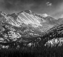 Longs Peak B&W by Ken Smith
