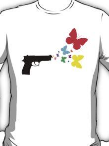 Butterfly Gun Color T Shirt T-Shirt