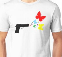 Butterfly Gun Color T Shirt Unisex T-Shirt